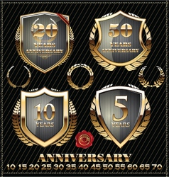 Anniversary gold design element collection vector