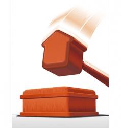 Auction hammer vector