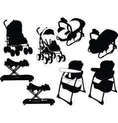 Baby equipment - vector
