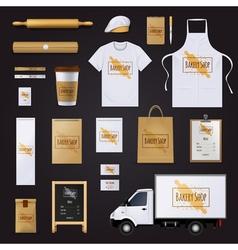 Bakery Corporate Identity Template Design Set vector