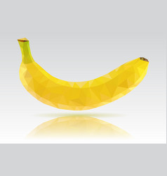 Banana single yellow fruit polygonal vector