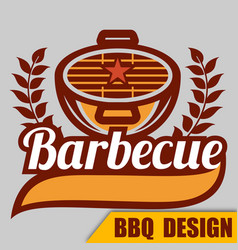 Bbq barbecue logo image vector