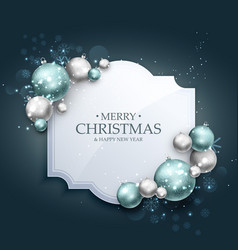 Beautiful christmas greeting background with vector