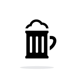 Beer glass pub simple icon on white background vector image