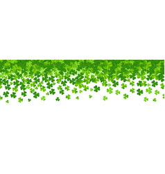 border with clovers vector image