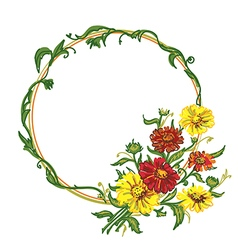 Bouquet wreath vector