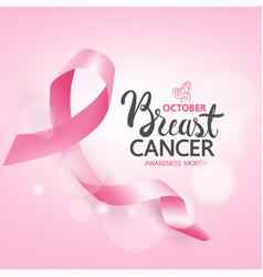 Breast cancer awareness ribbons vector