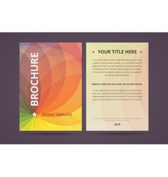 Brochure design template with abstract geometric vector image