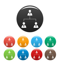 business structure icons set vector image