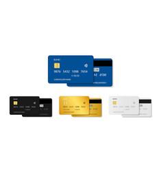 card credit bank debit plastic card template in vector image