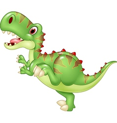 Cartoon funny tyrannosaurus isolated vector image