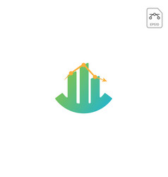 chart diagram logo design icon element isolated vector image