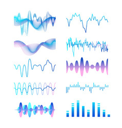 Collection different gradient colored sound vector