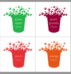 Colorful glass with bubbles vector