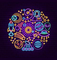 cosmic neon concept vector image