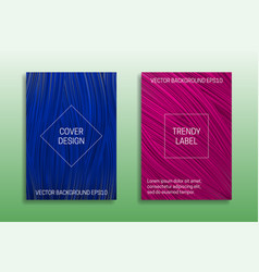 Cover templates saturated color trendy blue vector