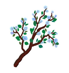 delicate spring branch vector image