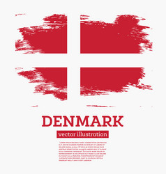 Denmark flag with brush strokes vector