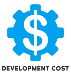 Development Cost Flat Icon with Caption vector
