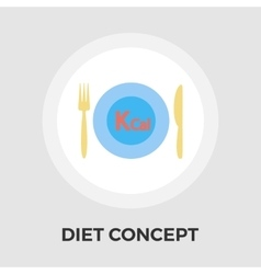Diet concept flat icon vector image