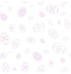 Easter seamless pattern Eggs design Easter vector image