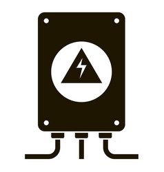 Electric convertor icon simple style vector