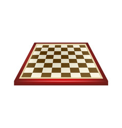 Empty chess board in red and brown design vector