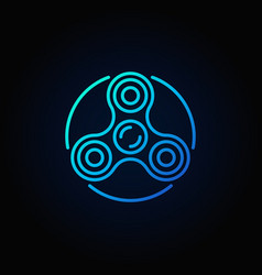 fidget spinner blue icon vector image