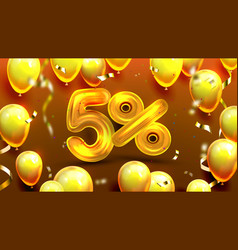 five percent or 5 marketing special offer vector image