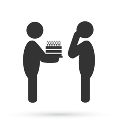 Flat birthday icon isolated on white vector image