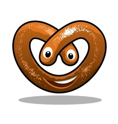 Fun happy curly pretzel vector image