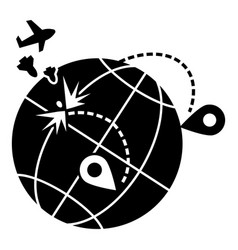 global war migration icon simple style vector image