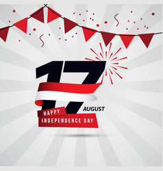 Happy indonesia independence day 17 august vector
