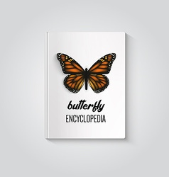Hardcover of book butterfly encyclopedia vector