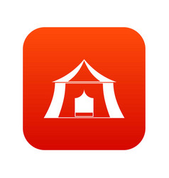 Hiking pavilion icon digital red vector