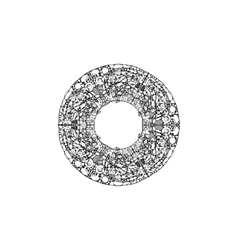 image of a mandala made in the form black vector image