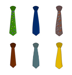 isolated beautiful necktie icon vector image