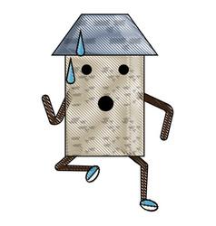 kawaii house icon image vector image
