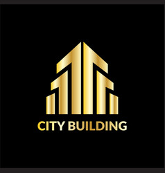 landscape city building logo vector image