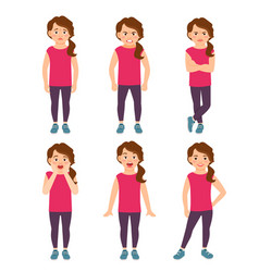 Little girls emotions vector