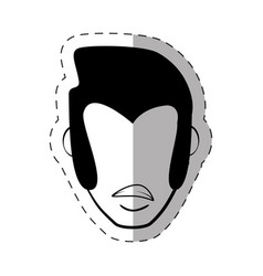 Male faceless character image vector