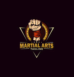 Martial arts with punch hand vector
