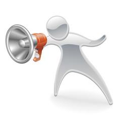 metallic mascot megaphone concept vector image