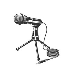 microphone logo concept vector image
