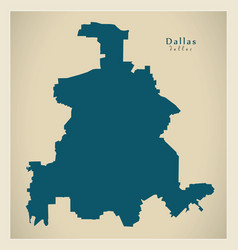 Modern map - dallas texas city of the usa vector
