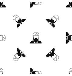 Muslim preacher pattern seamless black vector