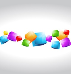 Mutli color cubes shapes vector