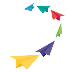 paper plane icons vector image