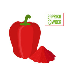 paprika red bell pepper pile of condiment vector image