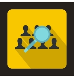 People search icon flat style vector